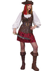 Adult High Seas Buccaneer Pirate Costume Deluxe