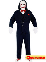 Adult Saw Jigsaw Puppet Costume Deluxe