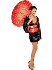 Adult Red Japanese Doll Costume