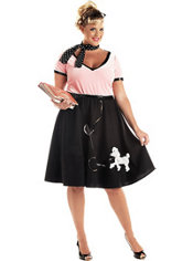 Adult Sweetheart Poodle Dress 50's Costume Plus Size