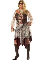 Adult South Seas Siren Costume Plus Size