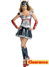 Adult Sassy Optimus Prime Costume Deluxe - Transformers