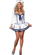 Adult Makin' Waves Sailor Costume Plus Size