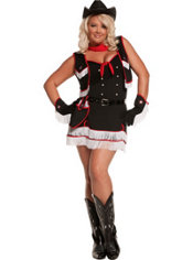 Adult Dirty Desperado Cowgirl Costume Plus Size