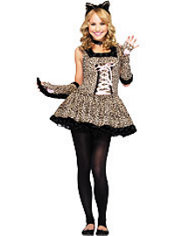 Teen Girls Cutie Wildcat Costume