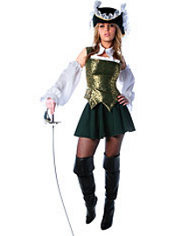 Adult Green Musketeer Costume