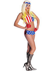 Adult American Flag Lady Gaga Costume