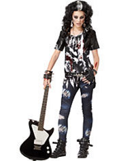 Girls Rocked Out Zombie Costume