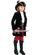 Boys Black Caribbean Pirate Costume