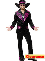 Adult Hollywood Mac Daddy Costume Plus Size