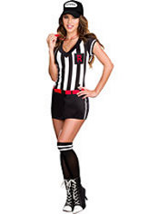 Adult Out of Bounds Sexy Referee Costume