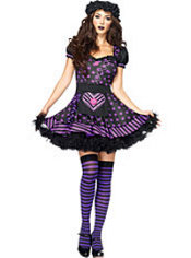 Adult Dark Dollie Gothic Rag Doll Costume