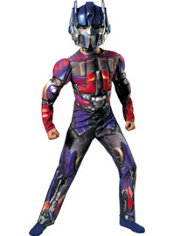 Boys Optimus Prime Muscle Costume - Transformers Dark of the Moon