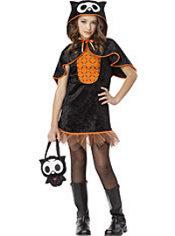 Girls Oliver the Owl Costume - Skelanimals