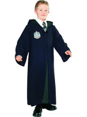 Boys Slytherin Robe Costume Deluxe - Harry Potter