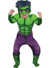 Toddler Boys Hulk Muscle Costume