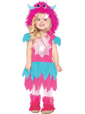 Girls Little Monster Costume