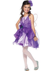 Girls Purple Fairy Costume
