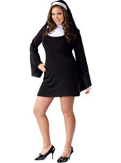 Adult Naughty Nun Costume Plus Size