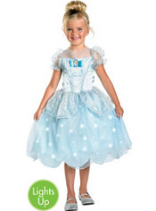 Girls Cinderella Light Up Costume Deluxe