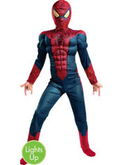 Boys Light-Up Spider-Man Muscle Costume - The Amazing Spider-Man