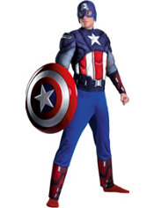 Adult Captain America Muscle Costume - The Avengers