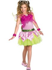 Girls Flora Costume Deluxe - Winx Club