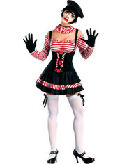 Adult Sexy Mime Costume