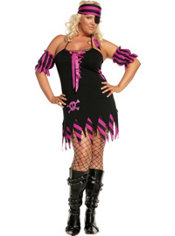 Adult Shipwrecked Wench Pirate Costume Plus Size