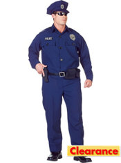 Adult Navy Police Costume Plus Size