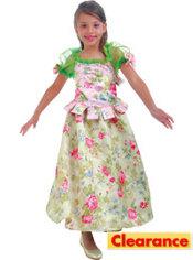 Girls Snow Flower Princess Costume Deluxe