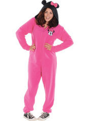 Adult Minnie Mouse One Piece Pajama