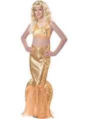 Girls Gold Mermaid Costume - H2O Just Add Water