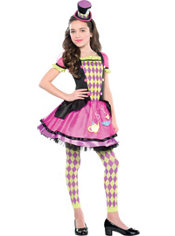 Girls Miss Mad Hatter Costume