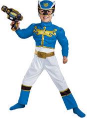 Toddler Boys Blue Ranger Muscle Costume - Power Rangers Megaforce