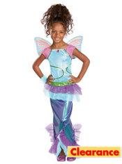Girls Mermaid Aisha Costume Deluxe - Winx Club