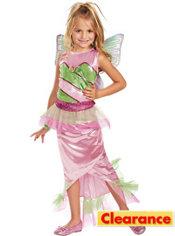 Girls Mermaid Flora Costume Deluxe - Winx Club