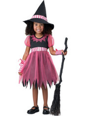 Toddler Girls Pinky Witch Costume