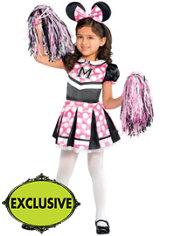 Toddler Girls Sweet Cheerleader Minnie Mouse Costume
