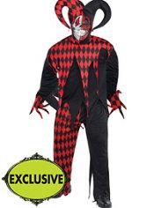 Adult Krazed Jester Costume Plus Size