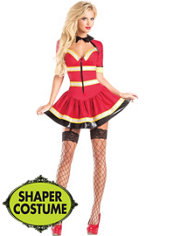 Adult Fireman Body Shaper Costume