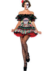 Adult Day of the Dead Doll Costume