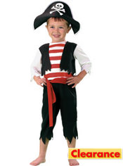 Toddler Boys Pint Size Pirate Costume
