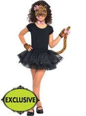 Girls Shimmer Leopard Costume