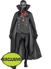 Adult Masked Vampire Partysuit Costume