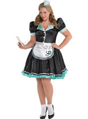 Adult Dinah Delight Waitress Costume Plus Size