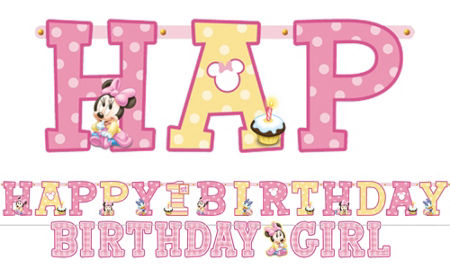 Minnie Mouse 1st Birthday Clipart Minnie Mouse 1st Birthday