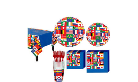 International flag party supplies decorations favors for International party decor