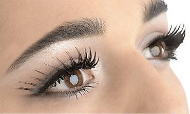 Black Peaked Eyelashes