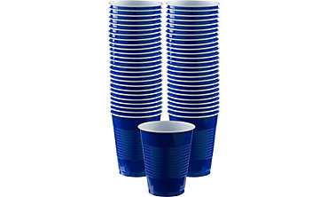 Royal Blue Plastic Cups 16oz 50ct